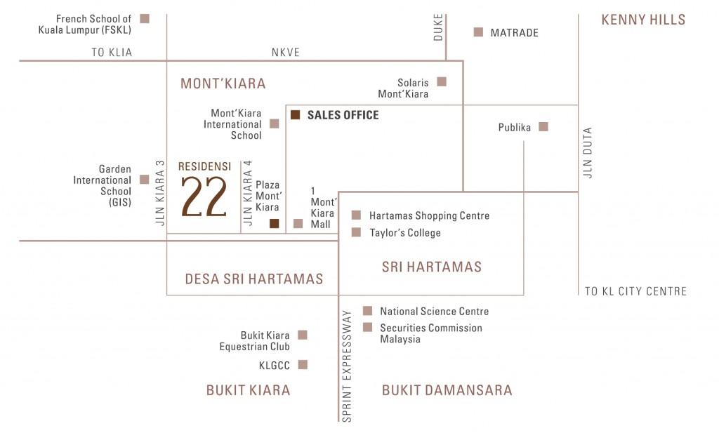 location-residensi-22-condominium-mont-kiara-kuala-lumpur