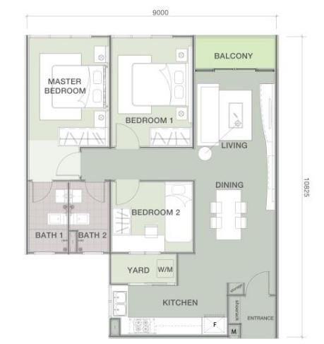 Lakefront-Residence-Diandra-Condominium-Cyberjaya-950-sq ft