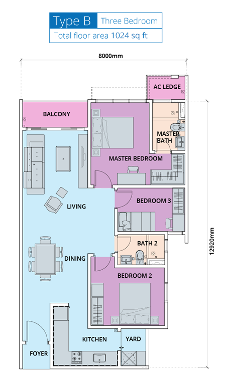 Biji-Living-Floor-Plan-1024 sq.ft.