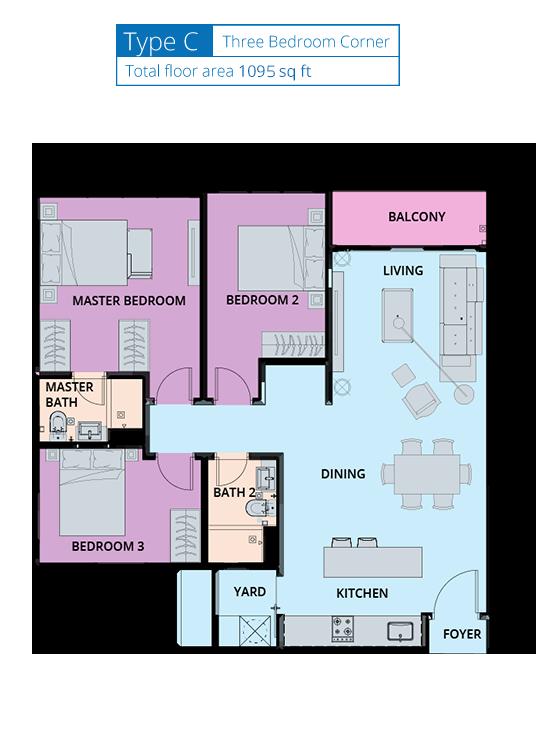 Biji-Living-Floor-Plan-1095 sq.ft.