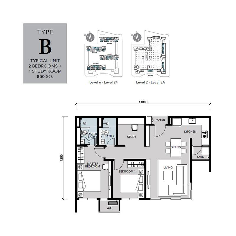 Floor-Plan-Cantara-Residences-Type-B-850 sq.ft.