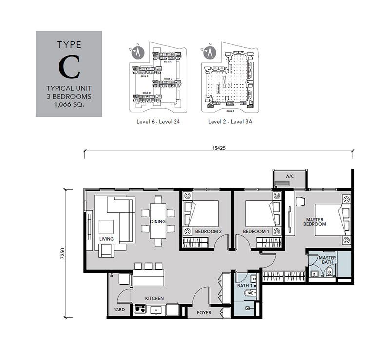 Floor-Plan-Cantara-Residences-Type-C-1066 sq.ft.