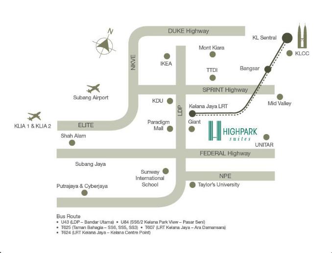 Location-map-HighPark-Suites-Kelana-Jaya