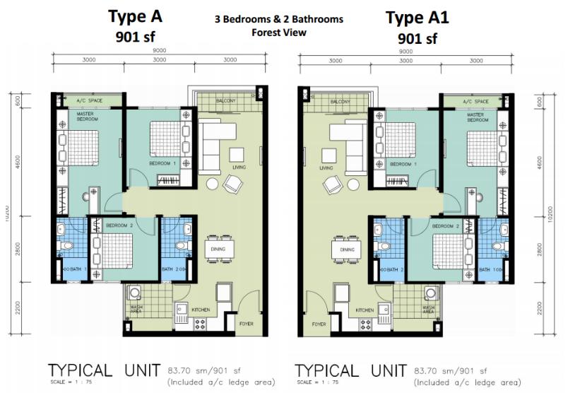 Mizumi-Residences-901 sq.ft.-Type A