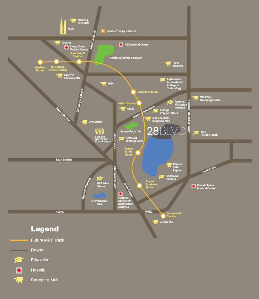 28-boulevard-serviced-apartment-location-map