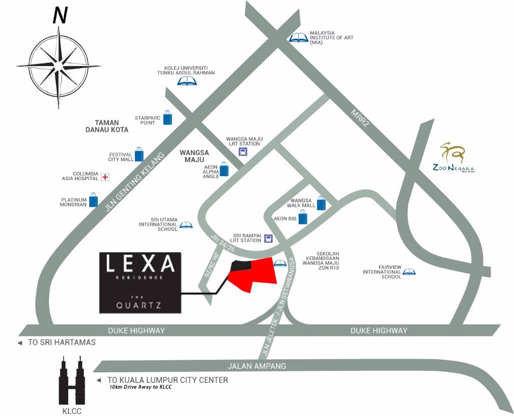 lexa-residence-location-map