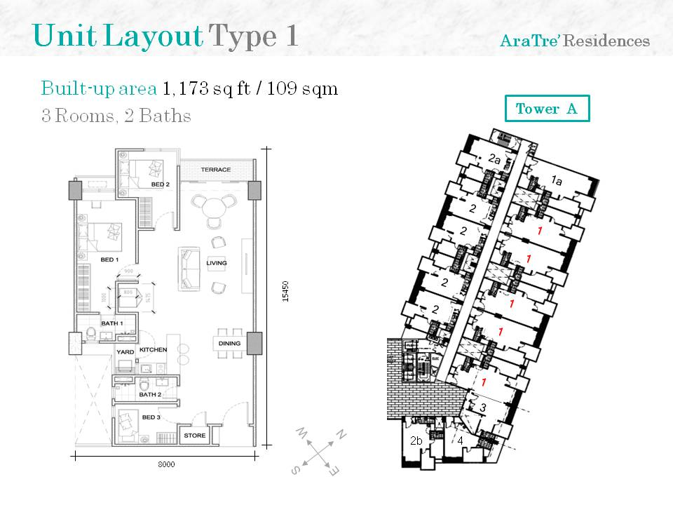 AraTre-Residences-1173 sq ft -3 rooms