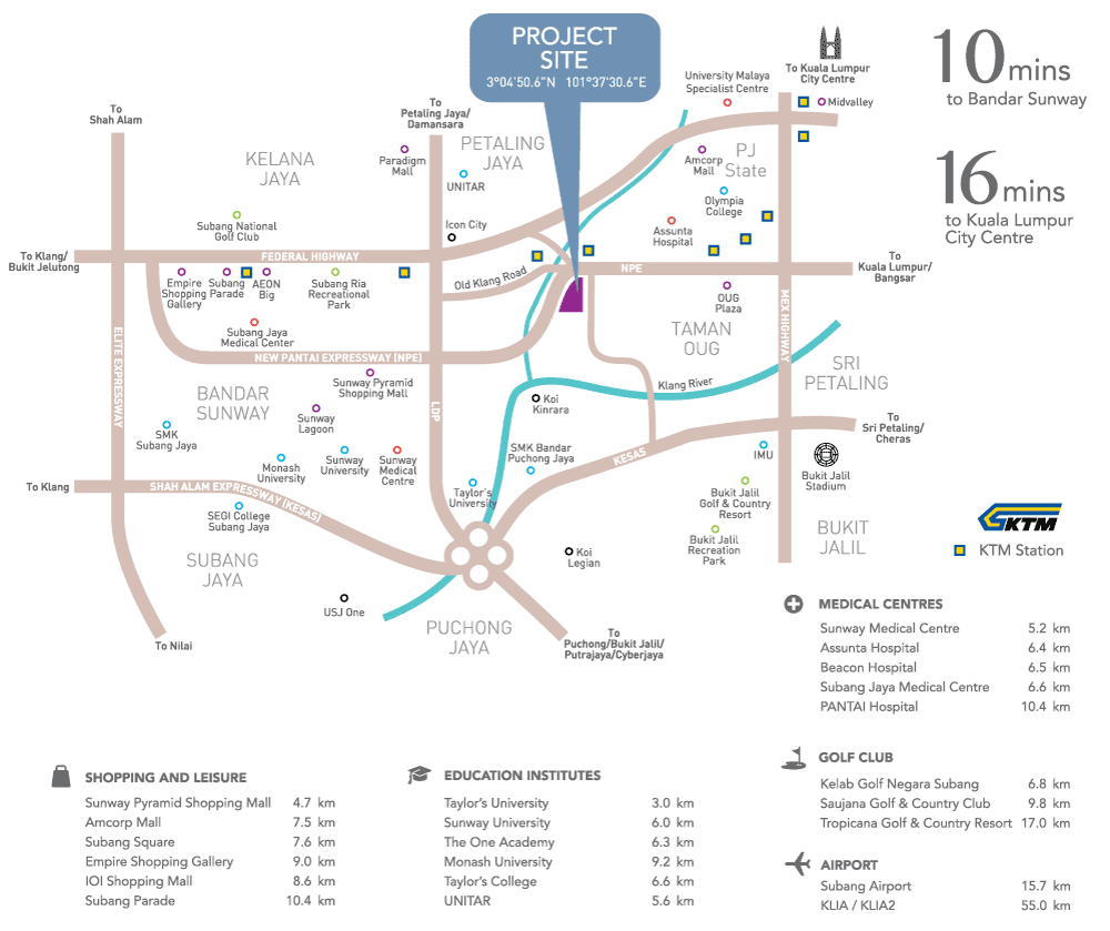 Sky-Terrace-PJS5-PJ South-location-map